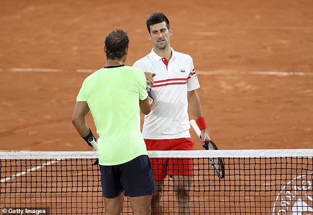 Djokovic beat Nadal to progress to the French Open final where he will faceStefanos Tsitsipas