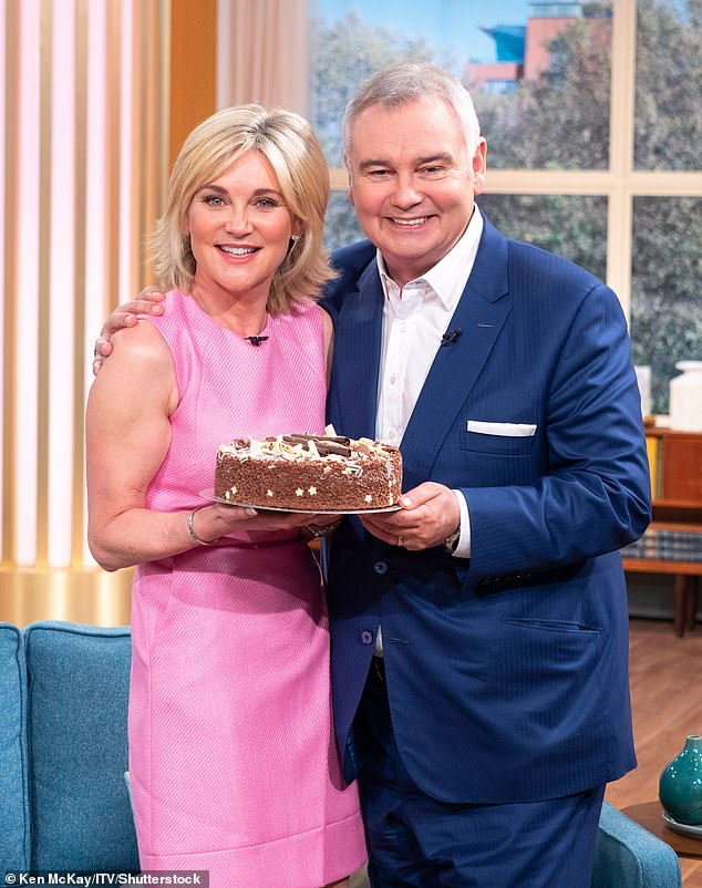 All is well! Putting their feud to an end: Eamonn and Anthea let bygones be bygones as they reunited on screen on This Morning in 2018