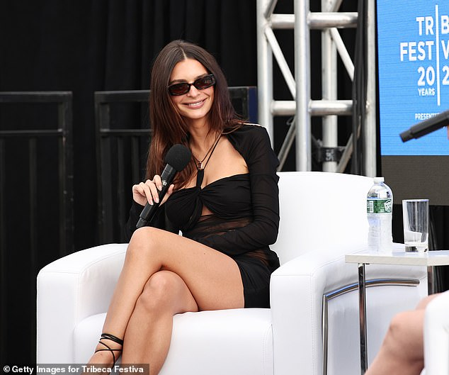 Chatting away: Emily Ratajkowski and Amy Schumer teamed up to discuss their careers, roles as storytellers and friendship at the 2021 Tribeca Festival in New York City on Friday