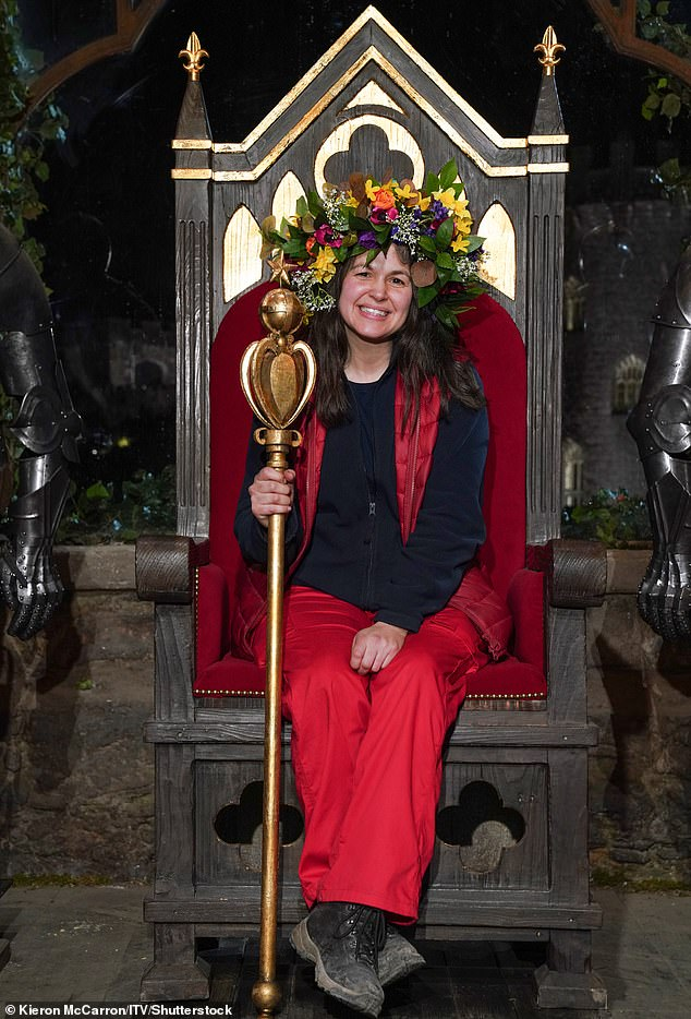 Surprising:Giovanna reportedly claimed up to £30,000 from the government's furlough scheme, weeks after being crowned I'm A Celebrity champion (pictured)