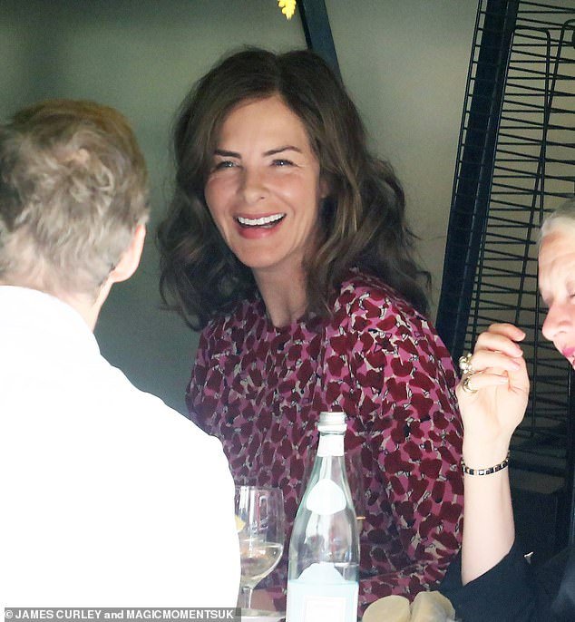 Lovely:Trinny Woodall looked simply radiant on Saturday as she once again enjoyed an al fresco lunch at her favourite restaurant Scott's in Mayfair