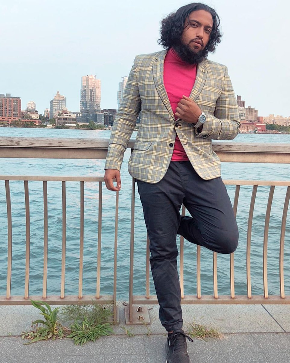 David 'Shaman' Ortiz, 28, has since dismissed his critics as 'Karens and Kevins' who want to 'steal joy'. He lives in Elmhurst, Queens - miles away from the scene of his Manhattan raves