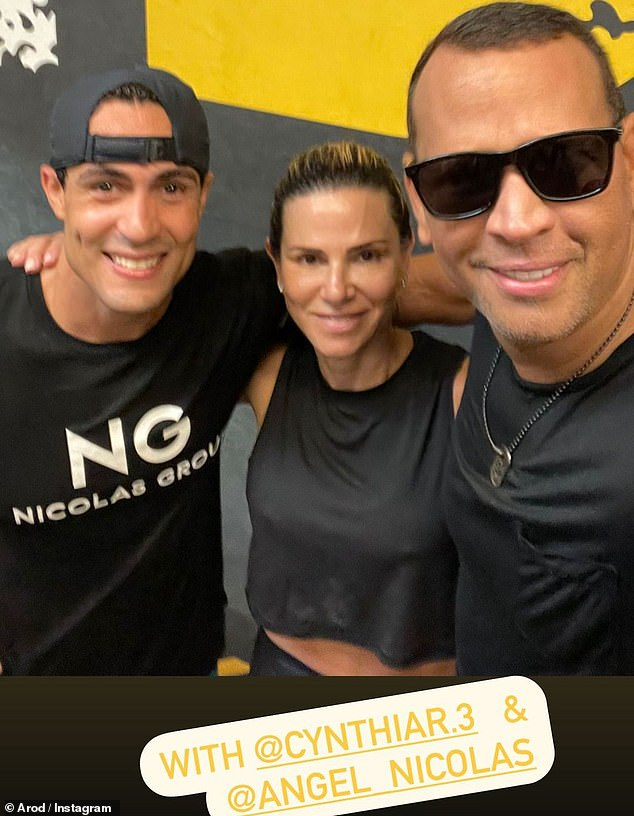 You look fabulous: Along with the video, Alex also uploaded a selfie that showed him and Cynthia beaming as they posed with their realtor friend Angel Nicolas