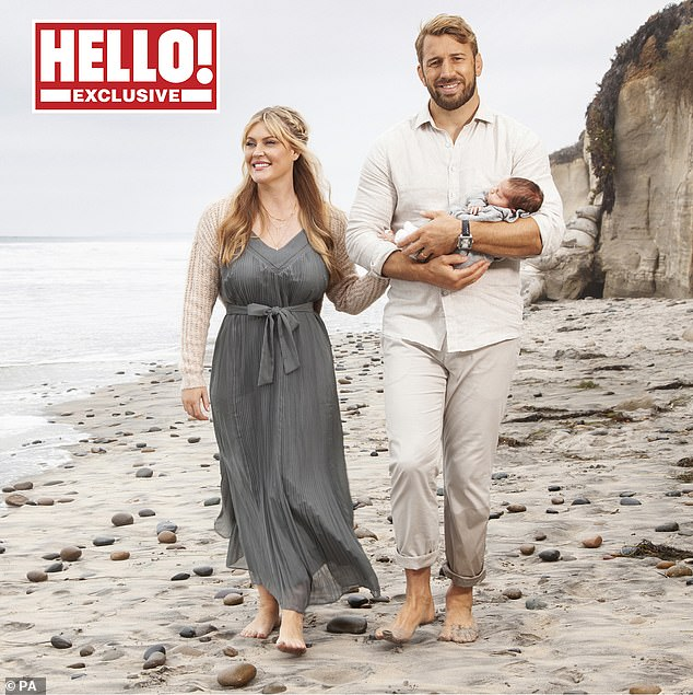 Gorgeous: Classic singer Camilla Kerslake and former England rugby captain Chris Robshaw revealed they named their newborn son Wilding