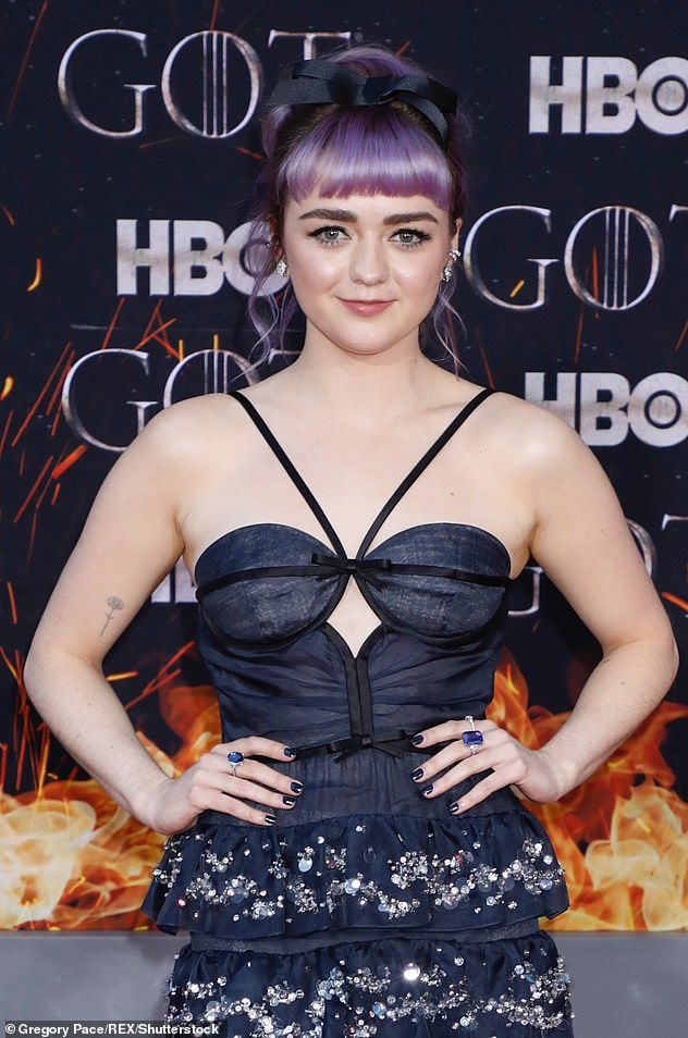 Global ambassador: Maisie has appeared in a WWF video highlighting the importance in working to halt climate change (pictured in 2019)