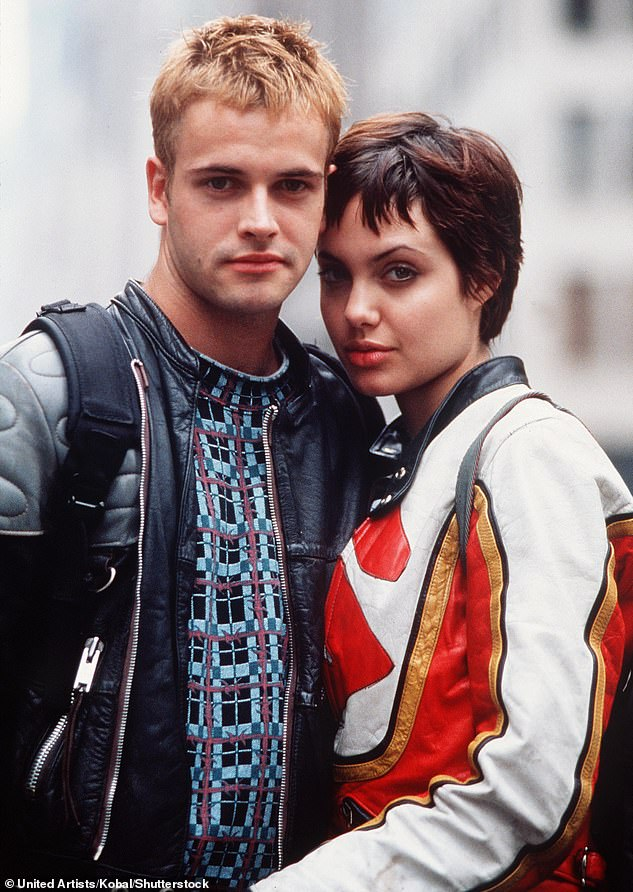 Young love: The actors swiftly fell in love on the set of Hackers in 1995 and they married in a small ceremony surrounded by her mother and their close friends; pictured in Hackers