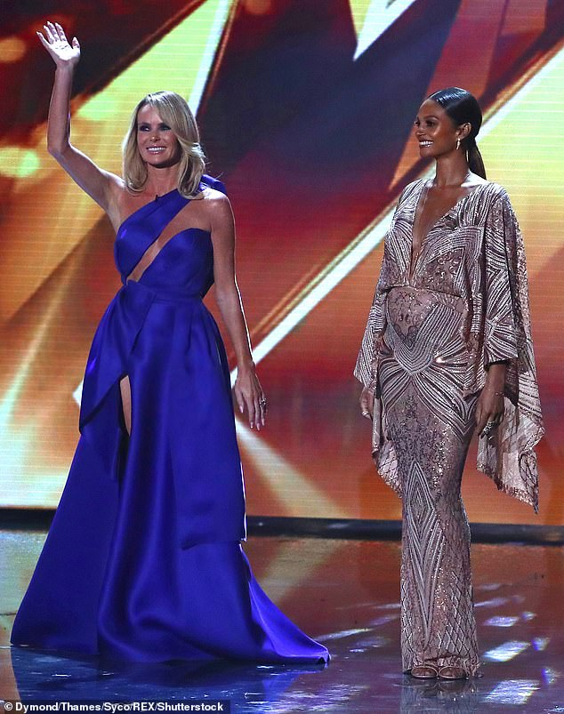 Co-workers: The pair have been judges on Britain's Got Talent together for the past nine years after Alesha joined the panel in 2012