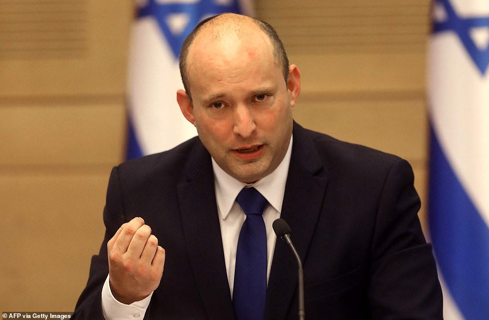On Sunday evening, Bennett opened his first cabinet meeting as prime minister with a traditional blessing for new beginnings. He said: 'We are at the start of new days,' adding this his government will work to 'mend the rift in the nation' after two years of political deadlock