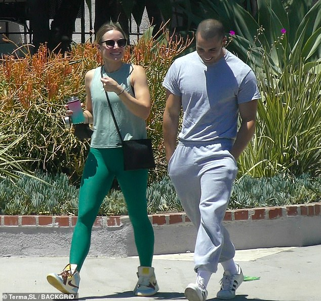 Bonding: The Good Place alum Kristen Bell worked out with Benjamin Levy Aguilar, her castmate from Netflix's The Woman in the House, in LA's Los Feliz neighborhood on Sunday