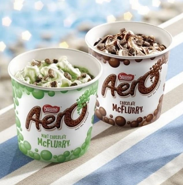 Meanwhile foodies will also rejoice the return of old favourites to the menu, including Aero McFlurries