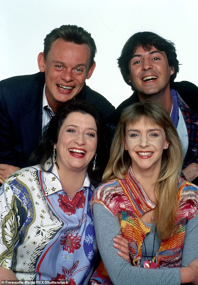 Talented: Leslie is best known for starring in the BBC sitcom Men Behaving Badly from 1992–1997 alongside Martin Clunes, Neil Morrissey and Caroline Quentin