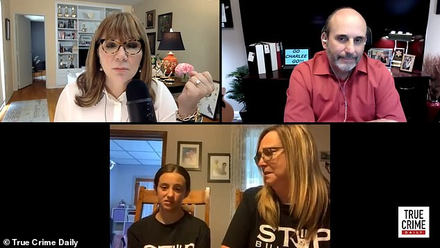 Funes and her mom, Kimberly Funes (bottom row), sat down for their first national interview on the True Crime Daily podcast on Friday to talk about bullying