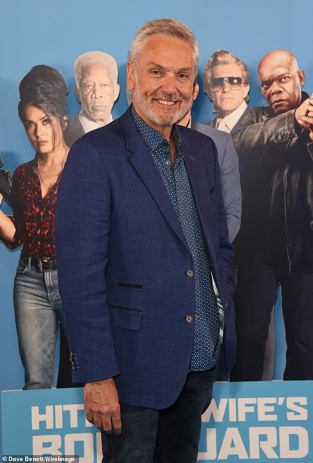 Laidback look: Former EastEnder's actor Brian Conley was the epitome of smart casual at the special screening as he paired casual indigo jeans with a two button blazer