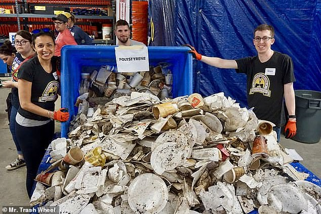 Trash Wheels operators say they've pulledover a million styrofoam containers from Baltimore's Inner Harbor alone