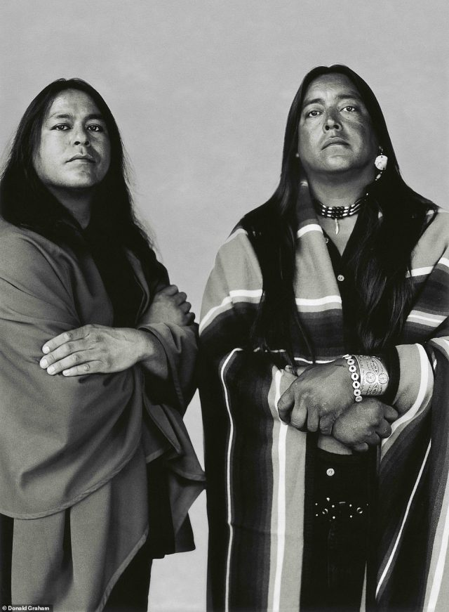 Graham has been spending as much time as he can in Taos, New Mexico since 2003. He started photographing the locals and has several hundred portraits of the town's people. Graham took the image above,Native American Brothers, Taos, New Mexico, around 2005. The history of the Taos Pueblo stretches back nearly 1,000 years, according to their website. 'The people of Taos Pueblo have a detailed oral history which is not divulge due to religious privacy. The ancestors of the Taos people lived in this valley long before Columbus discovered America and hundreds of years before Europe emerged from the Dark Ages,' according to the site