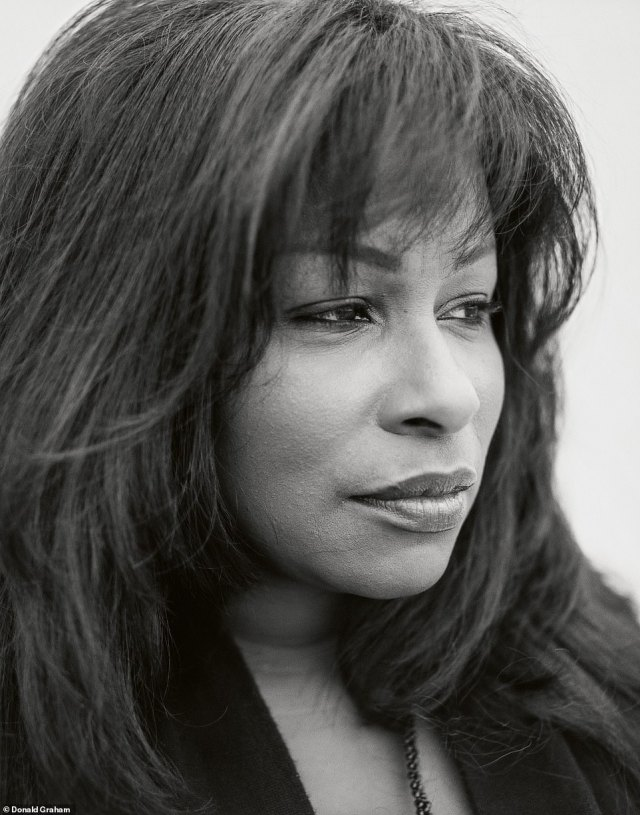 'She's a big personality,' Graham said of the legendary singer Chaka Khan, a 10-time Grammy winner who has had numerous hits including I Feel For You, I'm Every Woman, and Ain't Nobody. She was three hours late to the photo shoot, he recalled. But when the Queen of Funk did show up, it was'with a bottle of champagne in each hand.' When her arms wide open, she announced,'I've arrived,' according to Graham. The photographer has said he isn't 'interested in poses or performances for the benefit of the camera.' He told DailyMail.com that he likely asked her to close her eyes and focus on her breath before he took the image above, Chaka Khan, Los Angeles, California, which was published in Interview Magazine in 1998