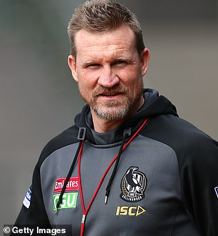 'They are happy': The romance between the new couple, who have known each other since at least the start of the year, is said to be 'effortless'. Pictured: Nathan Buckley