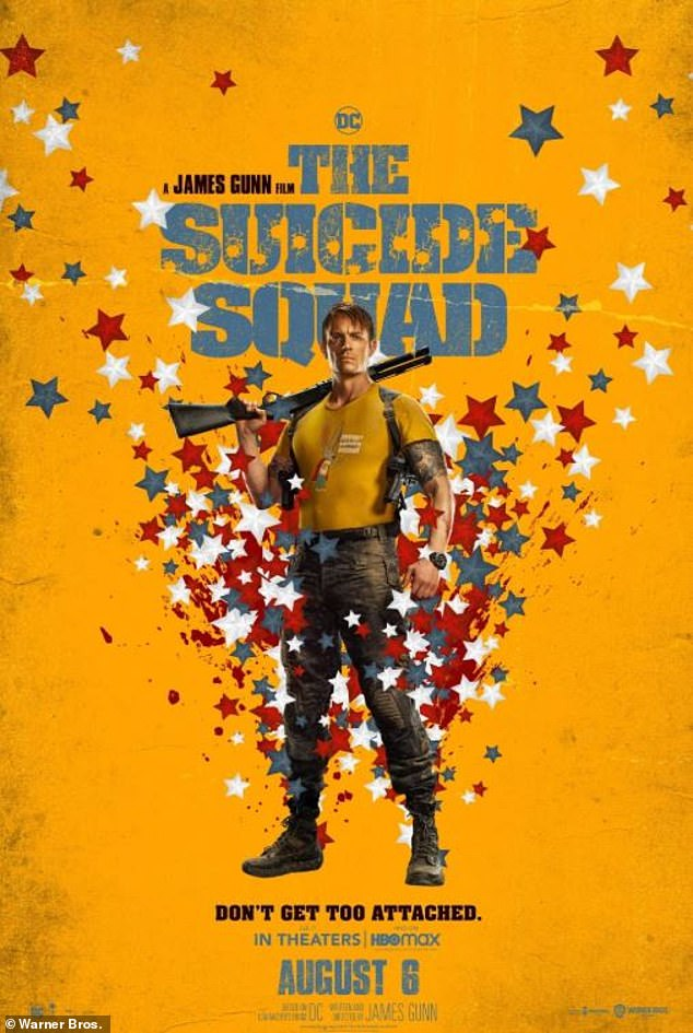 'It's crazy!  It is from afar [director] James Gunn's Best Picture ': Kinnaman will then reprise his role as Field Leader Rick Flag in star-studded sequel The Suicide Squad, which hits UK theaters on July 30 and US on August 6.