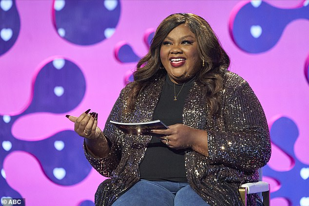 Celebrity 2: The hour-long season premiere also featured Nicole Byer, 34, testing her three suitors by asking them how they would heat her if she was frozen pizza