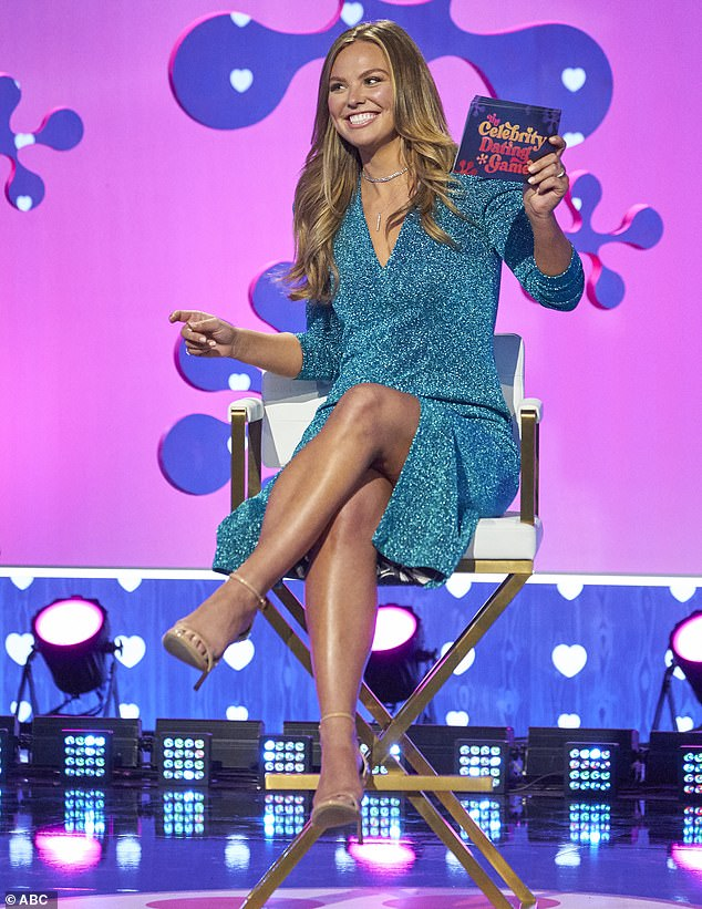 She's back: Hannah Brown after starring in The Bachelorette was looking for love again on Monday at the season premiere of The Celebrity Dating Game on ABC