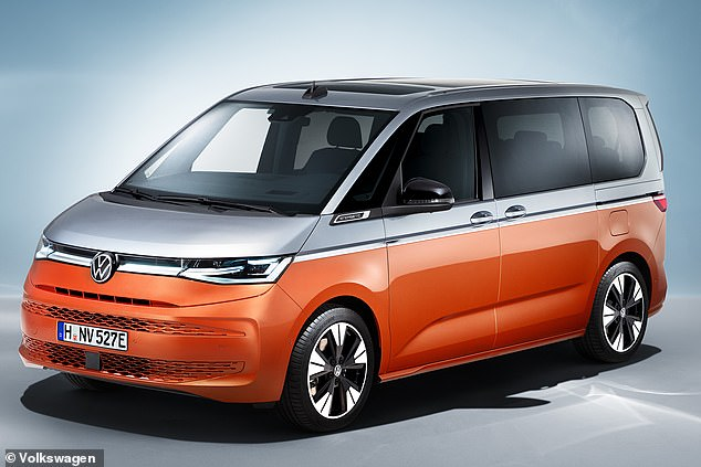 TheMultivan eHybrid has a 148bhp turbocharged 1.4-litre petrol engine and a 114bhp electric motor powered by a 13kWh battery pack that is stored under the floor. It will be capable of zero-emission 'short urban trips' of around 31 miles in EV mode