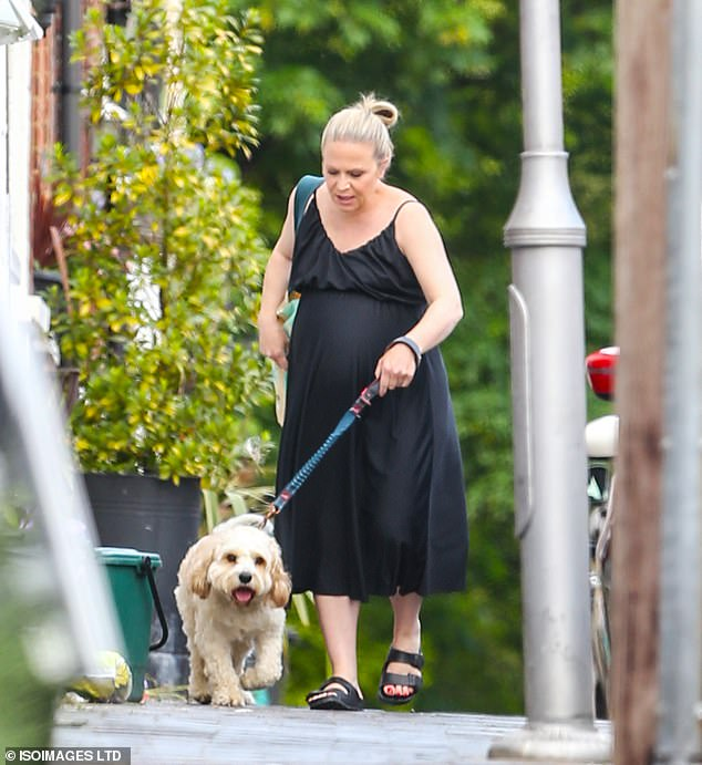 Here we go: Kellie was accompanied by the family dog as she went out near her house for a walk