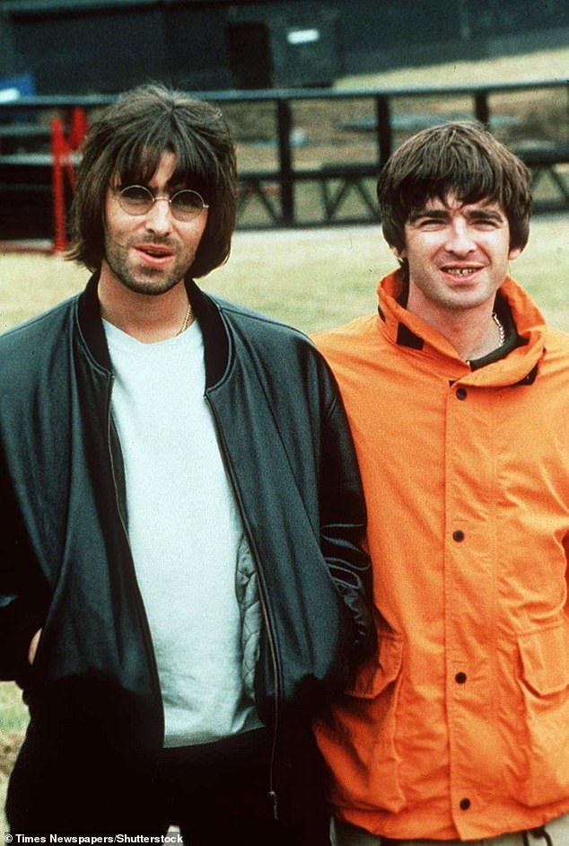 Feud: Noel decided to leave Oasis after Liam contracted laryngitis before the V Festival in August 2009, with the band canceling the concert and the brothers arguing (Liam and Noel pictured in 1996)