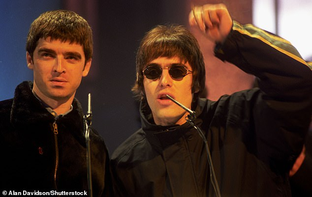 Fall out: Noel released a statement, accusing his brother of the cancellation, but cited Liam as the reason for the hangover.  Liam then sued Noel, demanding an apology, which he did - after which he left the group (pictured together in 1995)