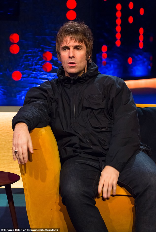 Tension: The former Oasis star, 54, has been feuding with her brother Liam, 48, for years (Liam pictured in 2020)