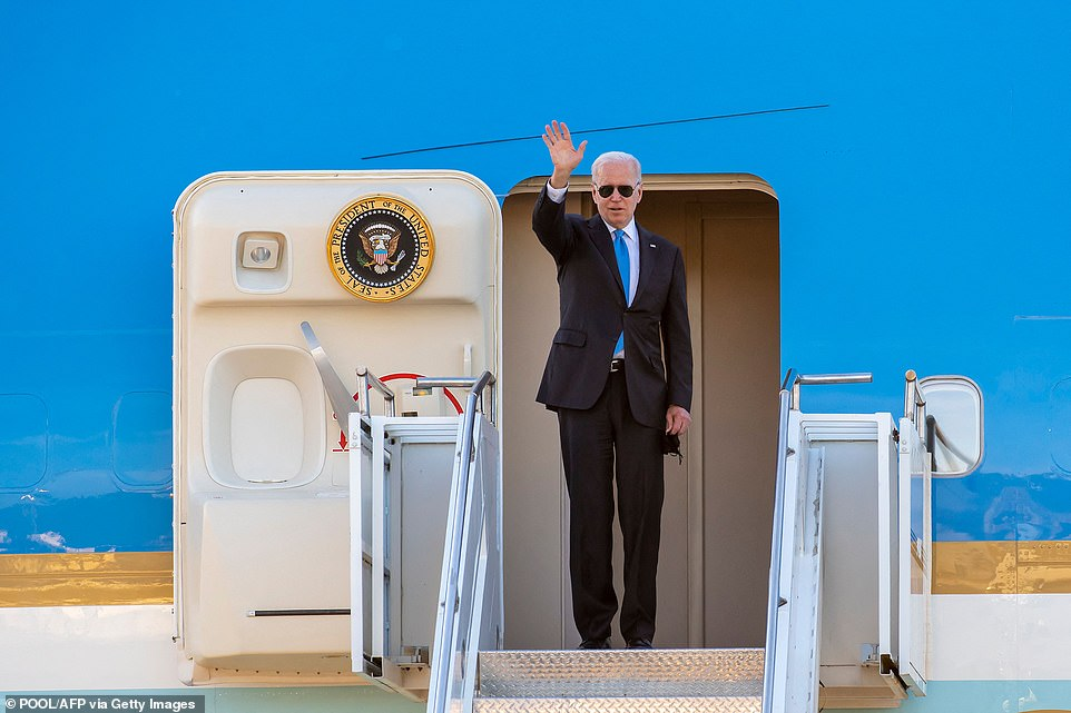 He wrapped up his eight-day overseas trip and headed back to Washington