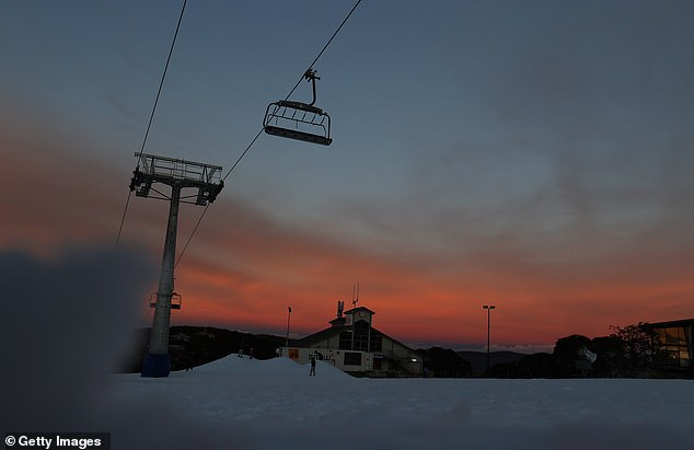 The sun sets on Mount Buller last week. Some fear it may not rise again for desperate businesses dependent on the ski season