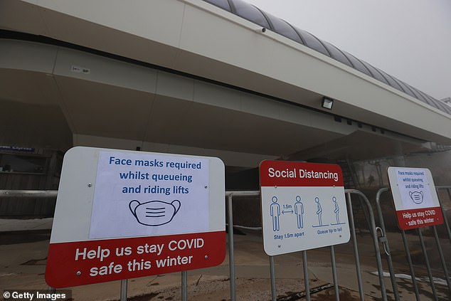 Covid safe signage on Mount Buller was all set for bumper crowds this weekend
