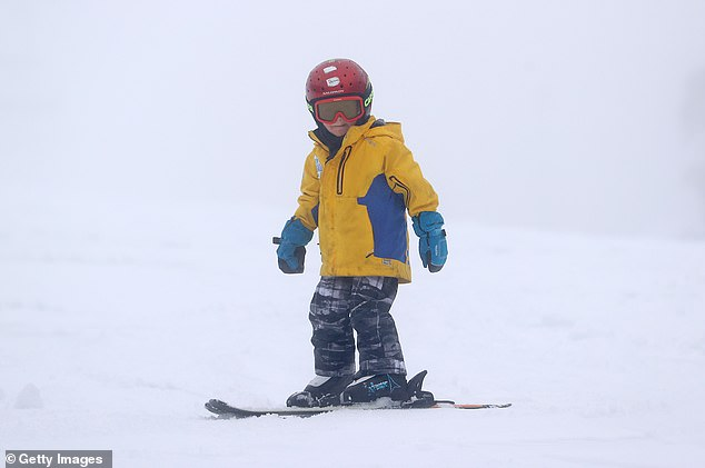 A child hits the slopes on Mount Buller last week. Crowds will be decimated by an order for people to be tested before being allowed on the mountain
