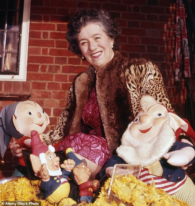 Enid Blyton (pictured in 1962), whose books have been among the world's best-sellers since the 1920s, has been linked to racism in updated Blue Plaque information produced by charity English Heritage