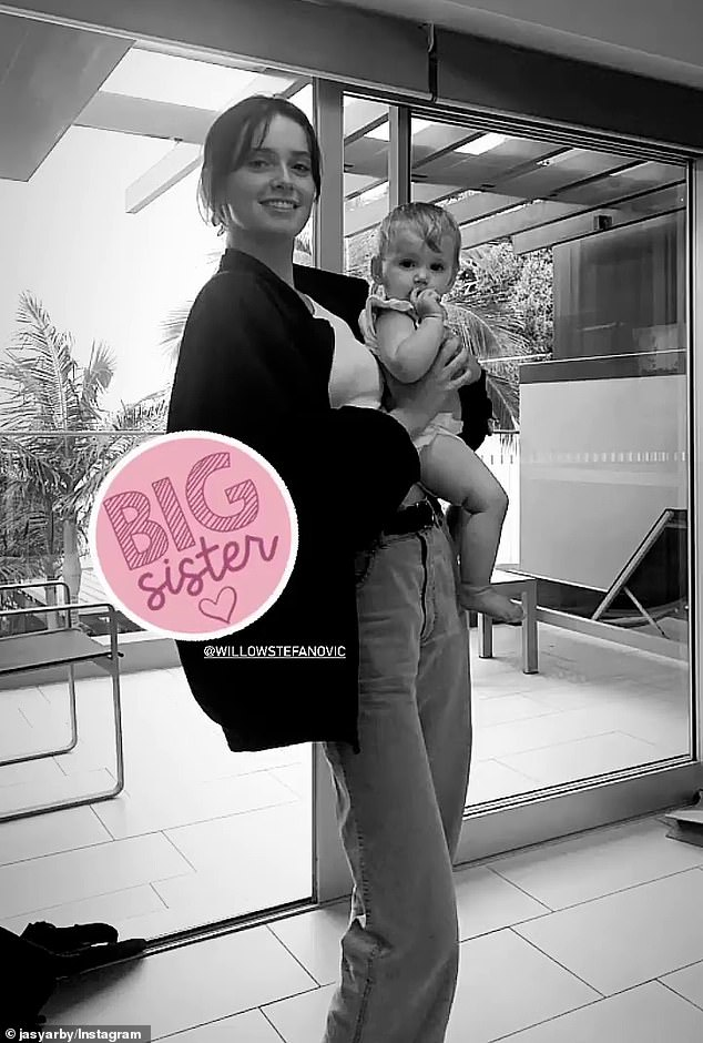 Big sister:Karl shares 16-year-old Willow with his first wife, Cassandra Thorburn. Despite their age difference, Ava and Harper (pictured) have a close bond