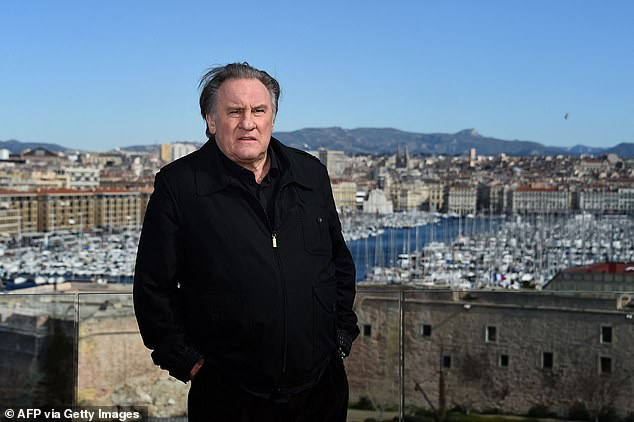 Gérard Depardieu, pictured above, will take to the stage alongside Carla Bruni at a music festival celebrating the end of France's Coronavirus lockdowndespite being investigated for rape