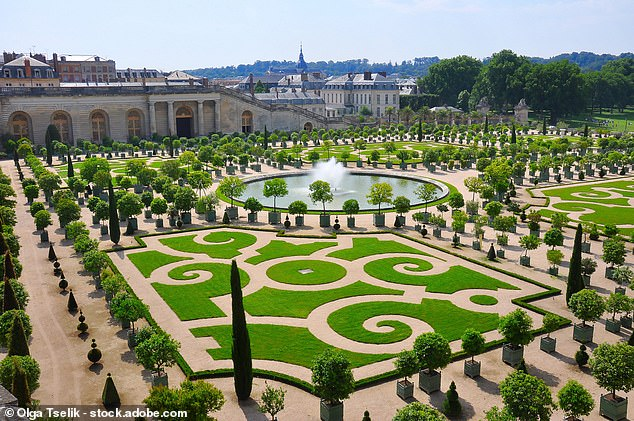 The pair are topping the bill in a series of celebrity singalongs to be held next month in the ornate grounds of the Palace of Versailles, pictured above