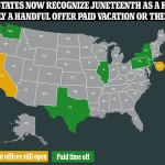 States race to close offices for Juneteenth holiday that now gives staff up to 44 DAYS OFF a year 💥💥