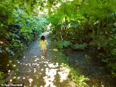 Ted's daughter explores Hotel Meudon's jungly garden