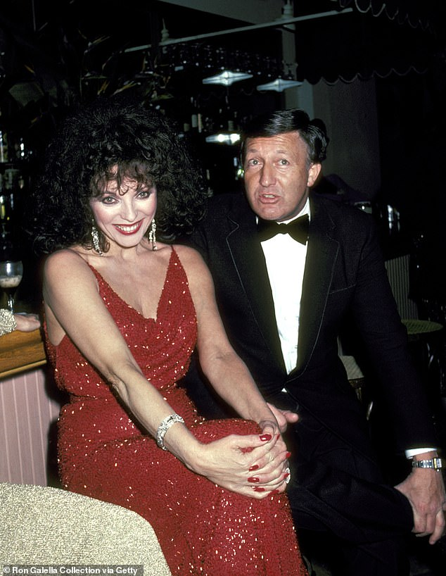Third times a charm? Joan married Ron Kass in 1972, with him being the father to her daughter, Katy. The marriage ended in divorce in 1983 (pictured together in LA in 1982)