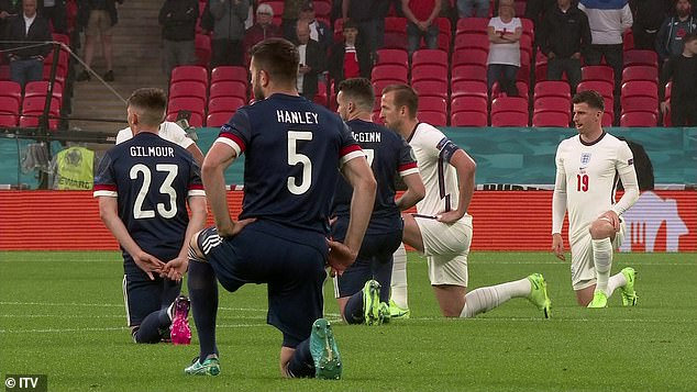 Scotland confirmed last week that they would join England by kneeling ahead of kick-off at Wembley in the two sides' second match