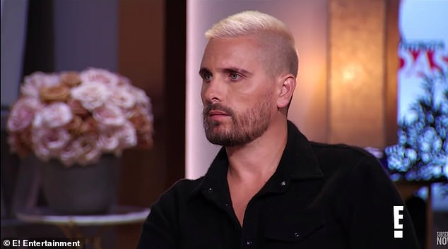 Hilarious:Toward the end of the clip, Disick says he has no problem with his ex moving on with other men then jokes he just want to 'kill them'