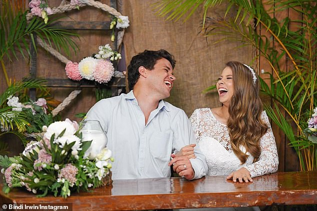 'I love being on this whirlwind journey with you': Bindi Irwin marked eight years since she first met her husband Chandler Powell in an Instagram post on Friday