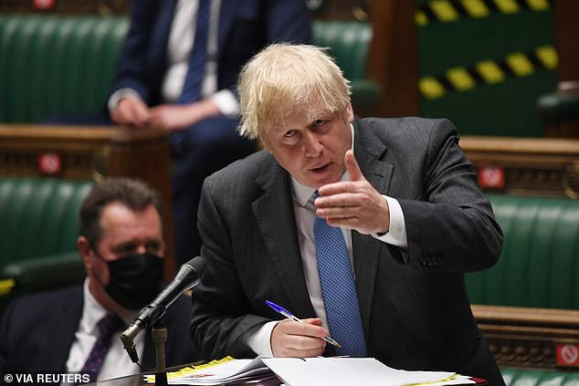 Boris Johnson said yesterday he is 'very confident' the remaining Covid curbs will be lifted as planned next month – but Tory MPs urged him to go faster