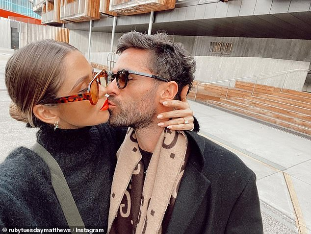 She's engaged!Ruby Tuesday Matthews announced her engagement to her boyfriend Shannan Dodd on Saturday. She placed her hand on his his face drawing attention to the stunning diamond ring