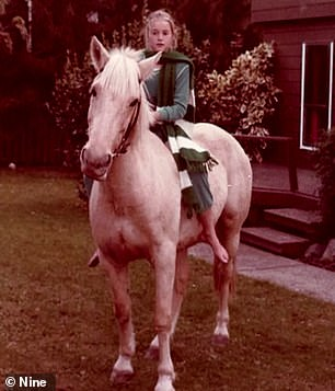 It was followed with a picture of her riding a white horse