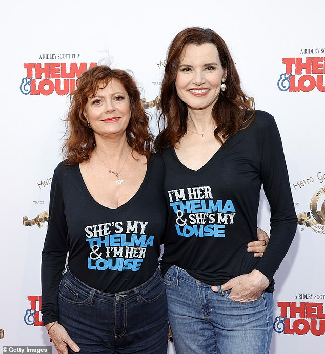Timeless couple:The stars wore adorable black tops that said 'She's my Thelma & I'm her Louise,' or the reverse, for the event