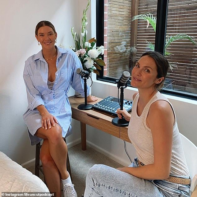 Competition!Despite their success, the pair have faced competition in the last year from Brittney Hockley and Laura Byrne's similar podcast, Life Uncut (pictured)