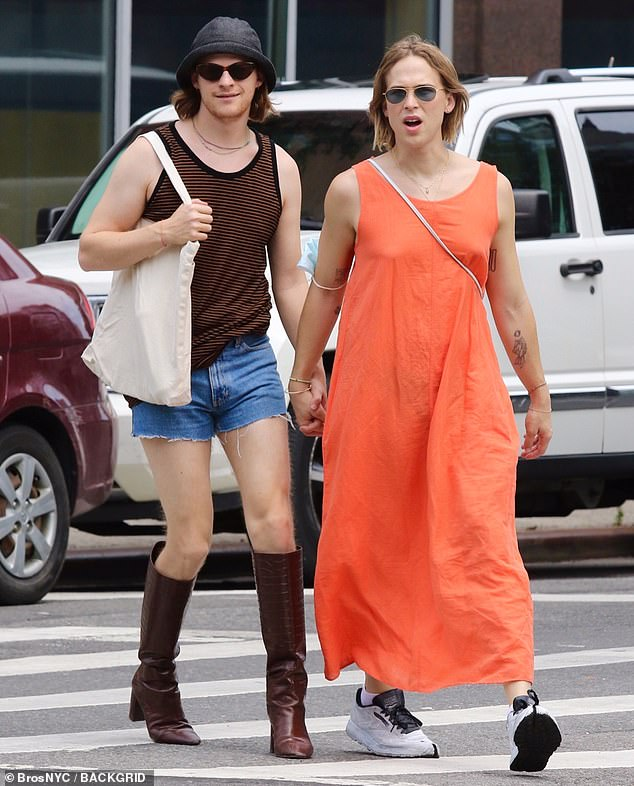 Summer Saturdays!  The duo were seen holding hands as they strolled through the city center in their best summer clothes