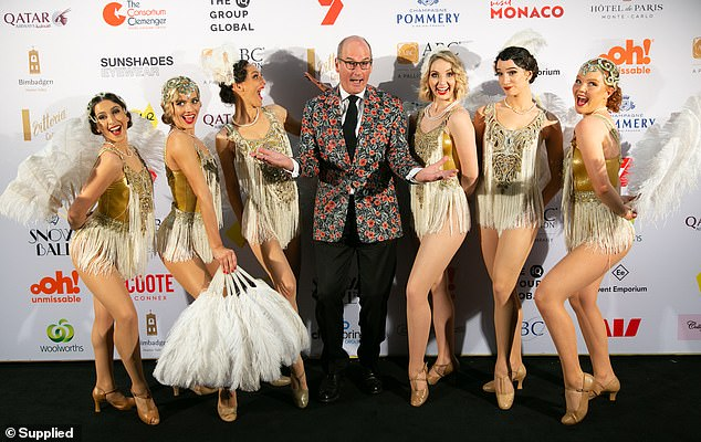 Bring the nerve!  Kochie paired her look with stylish pants, black shoes and trendy glasses.  Pictured with the Gatsby Girls